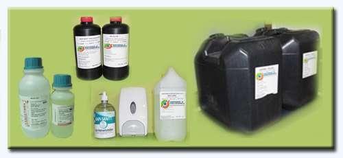 Productos químicos para limpieza y desinfección